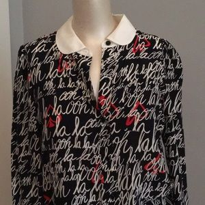 Kate Soade Ooh La La blouse new with tags